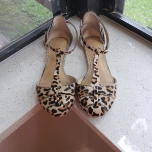 Zara pony hair cheetah flats